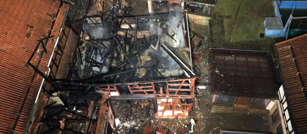 Scheune zwischen Rudolstadt und Kahla abgebrannt – Haus unbewohnbar