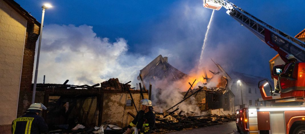 Vierseitenhof im Wartburgkreis völlig ausgebrannt