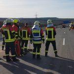 Schwerer Unfall auf A4 bei Magdala - Rettungshubschrauber im Einsatz