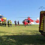 Traktor auf Forstweg bei Suhl umgestürzt: Fahrer schwer verletzt