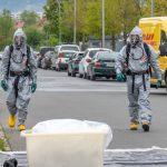 Verpuffung in Betrieb: Gefahrgutzug in Jena-Maua im Einsatz