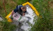 Gefahrguteinsatz in Tannroda: Terpentin floss in die Schwarza