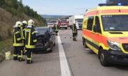 Auto kracht auf der A4 in Lkw – Ersthelfer reagiert geistesgegenwärtig