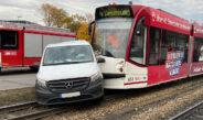 Unfall mit Straßenbahn in Erfurt: Vier Verletzte und hoher Sachschaden