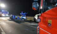 Vier Schwerverletzte nach Frontalzusammenstoß bei Gotha – Verursacher alkoholisiert