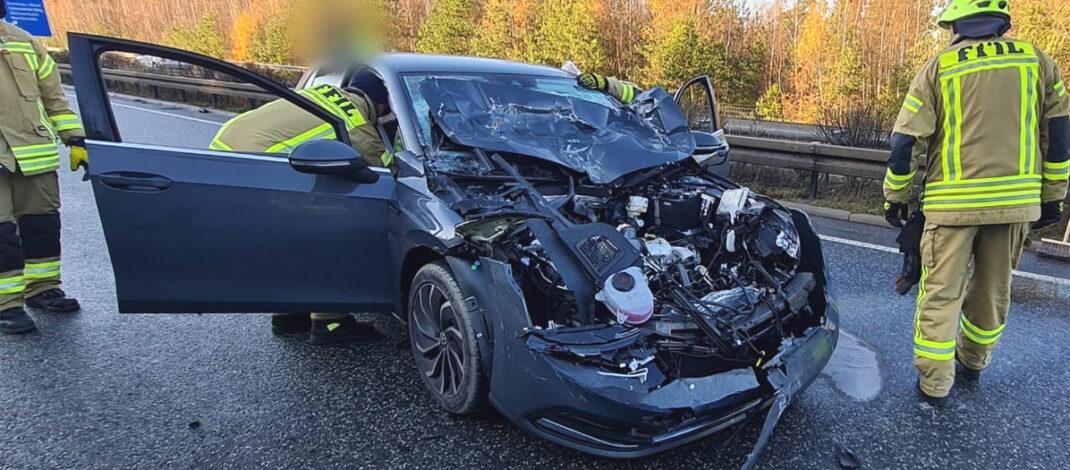 Unachtsamkeit beim Überholen führt zu Unfall auf der A71