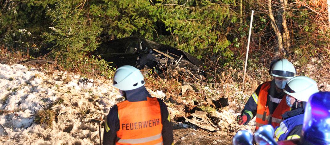 Unfall B85 Gestern
