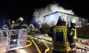 Brennendes Gartenhaus in Günterode – Vier Wehren drei Stunden im Einsatz