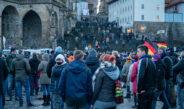 """Corona-Demo """"Schluss mit Eingriffe in Freiheit und Selbstbestimmung"""" in Erfurt"""