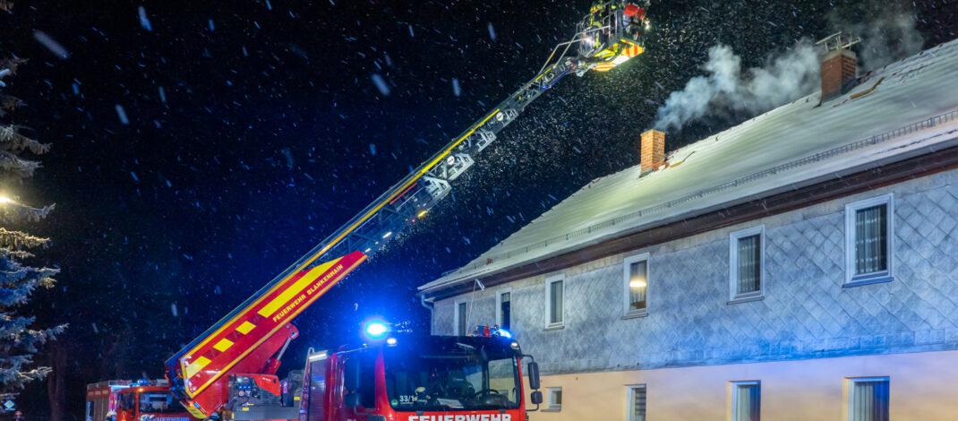 Schornsteinbrand in Lengefeld bei Blankenhain endet glimpflich