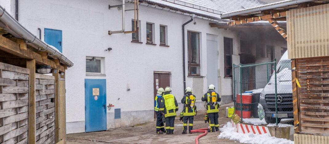 Brand in Blankenhainer Wäscherei endete beinahe im Großfeuer