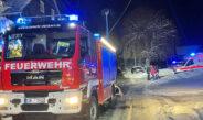 Werkstatt brennt in Wurzbach: Feuerwehr kann Schlimmeres verhindern