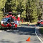 Motorradfahrerin schwer verletzt: Rettungshubschrauber landet bei Brotterode