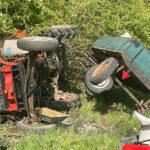 Traktor auf Feldweg nahe Auleben überschlagen - Mann wird schwer verletzt