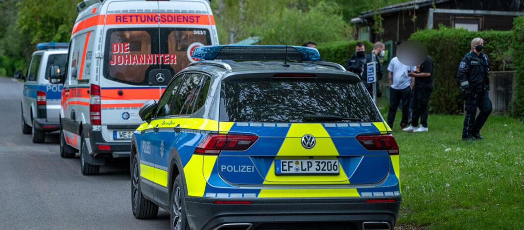 Himmelfahrt in Weimar: Messerstecherei löst größeren Polizeieinsatz aus