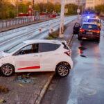 Drei Fahrzeuge nach Unfall in Erfurt beschädigt - Hyundai überschlagen