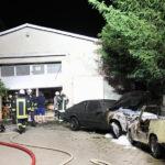 Lagerhalle brennt in Ebeleben: Technischer Defekt an Trabant offenbar ursächlich