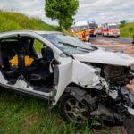 Vier teils Schwerverletzte bei Frontalzusammenstoß in Erfurt