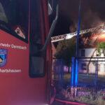 Unwetter fegte über Thüringen: Blitzeinschlag verursacht Dachstuhlbrand in Dermbach