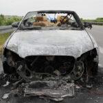 Gerade erst gekauft: Fahrzeug auf der A38 bei Görsbach abgebrannt