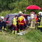 Unfall auf der A4 zwischen Mellingen und Weimar: Zu schnell bei Aquaplaning
