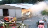 Lagerhallenbrand in Günterode: Selbstentzündung nicht ausgeschlossen