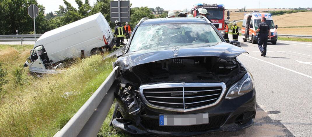 Drei Schwerverletzte bei Sondershausen: Kind mit Hubschrauber ins Krankenhaus geflogen