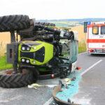 Traktor verunfallt nahe Kirchheiligen im Unstrut-Hainich-Kreis: Fahrer verletzt