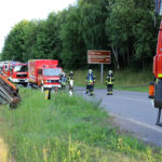 Geradeaus gefahren: Auto landet in Heiligenstadt im Graben - Fahrer verletzt