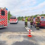 Vollsperrung nach Unfall mit zwei verletzten Personen in Bad Salzungen