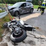 Motorradfahrer zwischen Arenshausen und Uder mit Pkw kollidiert und schwer verletzt