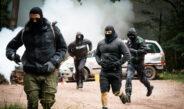 Thüringer Polizei trainiert mit Einsatzzügen auf Truppenübungsplatz Ohrdruf