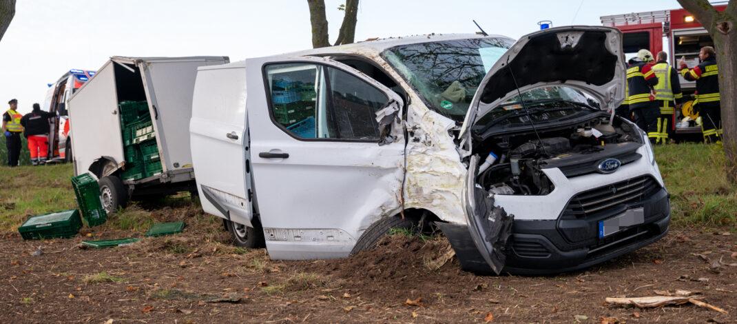 Unfall bei Berlstedt fordert Schwerverletzten – Er musste reanimiert werden
